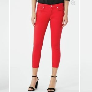 [Just Fabulous] Tango Red Cool Crop Jeans